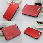 Luxury Metal iPhone 6 Plus Case - Red