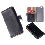 PU Leather Case Card Wallet for iPhone 6 -Black or Blue