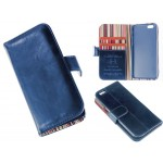 PU Leather Case Card Wallet for iPhone 6 -Blue