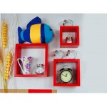 #Clearance# Red Cube Hanging Wall Shelves Pretty Wall Decoration Red