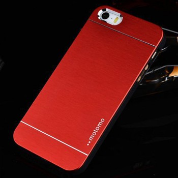 Luxury Metal iPhone 6 Case Matt Plastic Round Red