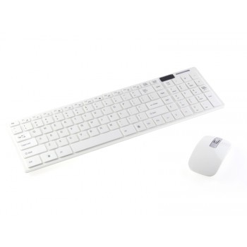 2.4G Wireless Slim Keyboard & Mouse Set - White