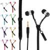 Zip Earphones In-Ear Zipper Stereo Headphones