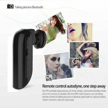 Mini Wireless Bluetooth Stereo Sports Headset Earphone with Remote Photograph