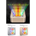 Wireless Bluetooth Portable Mini HIFI Subwoofer Speaker with Colorful Light