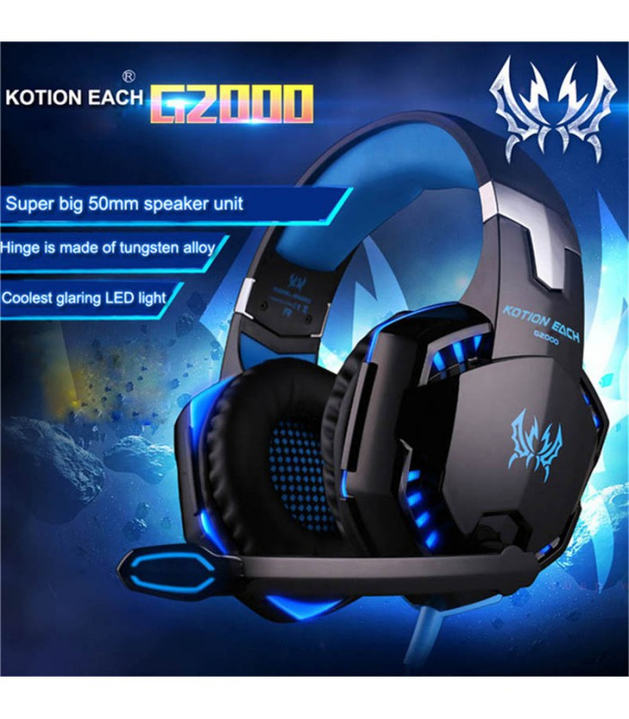 Deep Bass Headset with Mircophone Professional Stereo Gaming Headphone