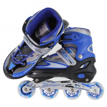 #Special# Line Skating Shoes Blue M (34-39) +  Protector Gear (Free Gift)