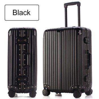 Aluminum frame+PC+ABS rolling luggage 28""