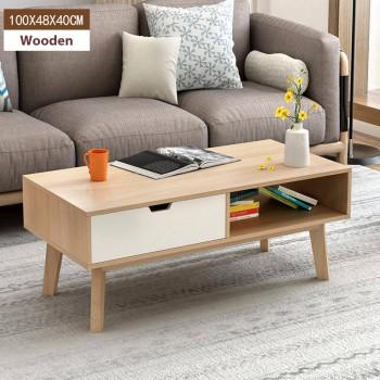 Coffee Table - white 100cm x 48cm x 40cm