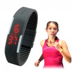 Water Resistant LED Silicon Sport Running Wrist Band Watch Multi-Color Avaiable