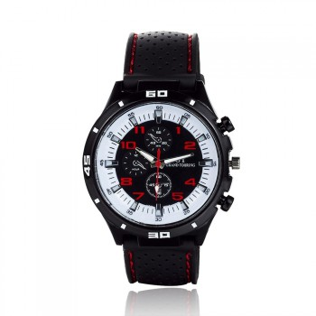 Fashion Brand GT Sport Men Quartz Watches Silicone Strap Grand Touring