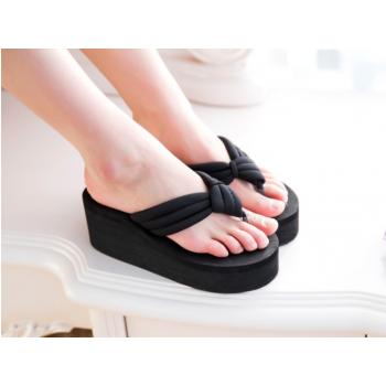 Sponge Cake Slippers Sandals for women black 37-39
