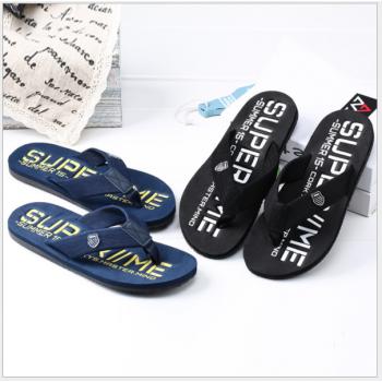 Skid resistance trendy Slippers Sandals for men Black&Blue 43-44