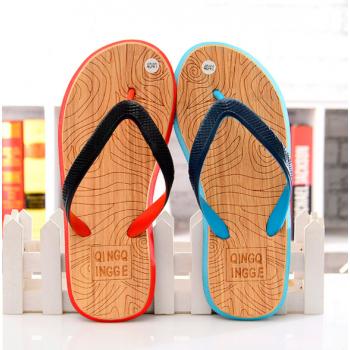 Wooden pattern Slippers Sandals for men Black,Blue,White 43-44