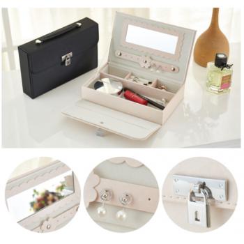 Fancy Jewellery box high quality Black,,Apricot Pink