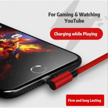 1.2m Gaming Apple USB Charger For iPhone 5 /5c/5s/6/6s/6s/7/7s Black Red