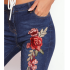 ebay hot sale hole slim rose embroidery long jeans