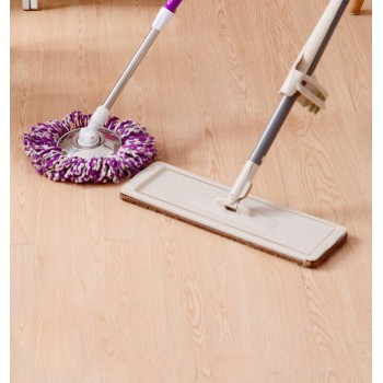 36cm Flat Mop No Hand Washing Lazy Microfiber Sweeper Magic Spin Floor Rotate