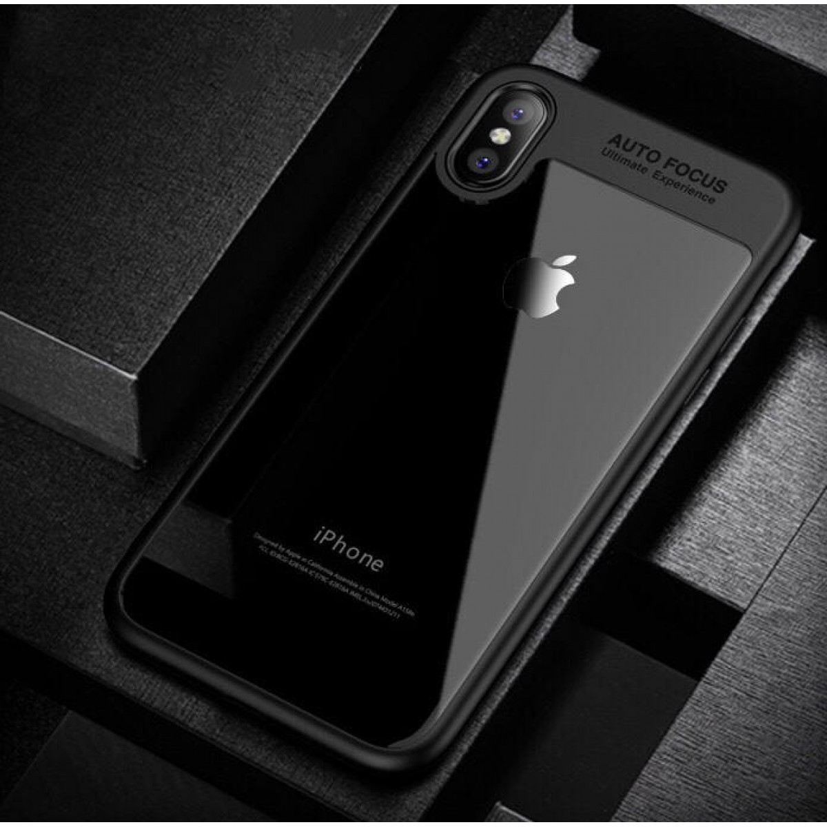 online retailer 2641b 7c3ae iPhone X Case Luxury silicone Transparent frame case for iPhone X