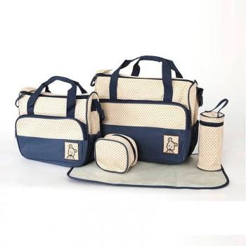 Nappy Bags 5pcs Baby Changing Diaper Mum Mother Shoulder Handbag Multi color