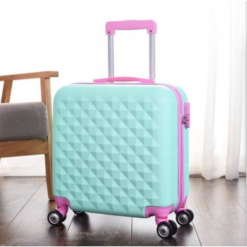 18+14 inch 2piece Luggage 2set Expandable Hard Side ABS Spinner Mint Colour Suit