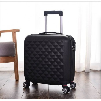 18+14 inch 2piece Luggage 2set Expandable Hard Side ABS Spinner Black Suitcase