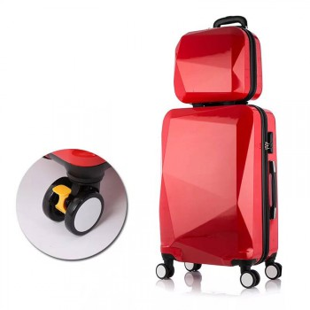 24inch +14inch 2 Pieces Luggage Travel Set Bag ABS Trolley Suitcase Red 2 set