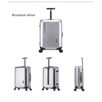 22 inch 4-Wheel  Luggage Inova Spinner Metallic Silver Suitcase