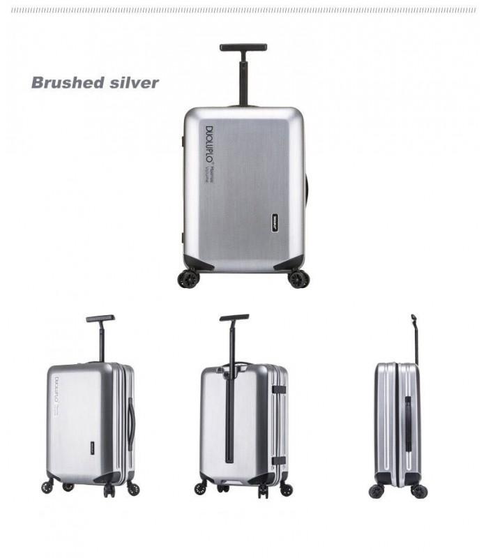 22 inch 4-Wheel  Luggage Inova Spinner Metallic Silver Suitcase