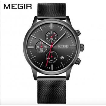 MEGIR Men Stainless Steel Quartz Men Watches Chronograph Watch Clock waterproof